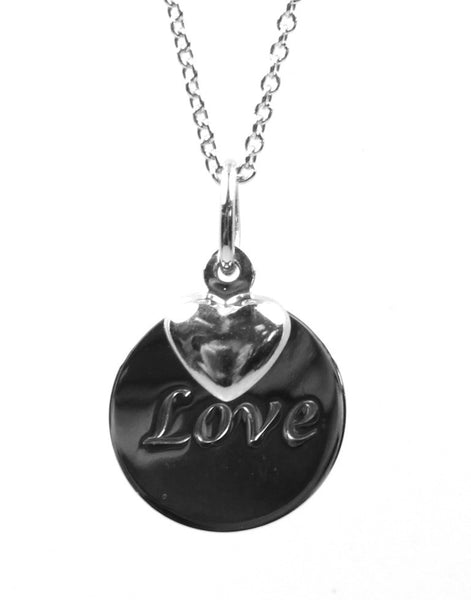 """Love"" Inspirational Disc Necklace"