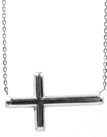 East to West Cross Necklace
