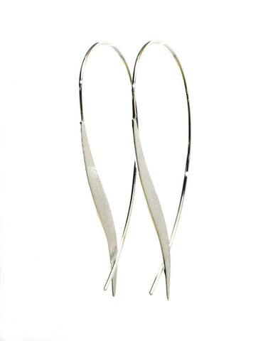 Feather Wire Earrings by Bastian Inverun