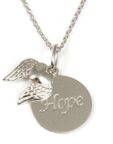 """Hope"" Inspirational Disc Necklace"