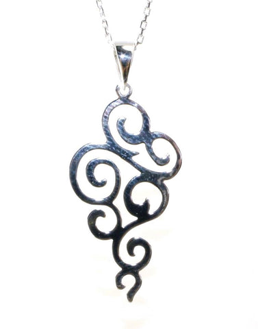Swirl Drop Necklace by Sterling Reputation
