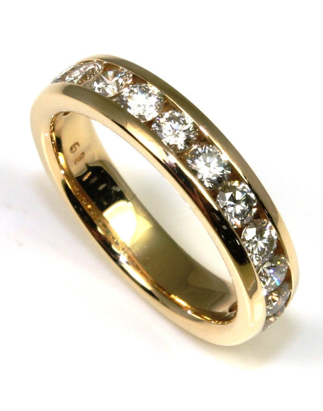 1.19ctw Round Diamond Channel Band