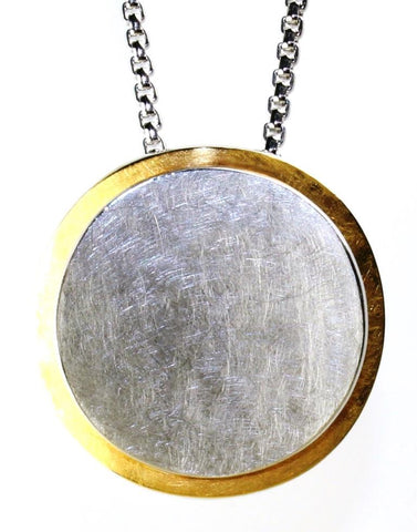 Two Tone Disc Necklace by Bastian Inverun