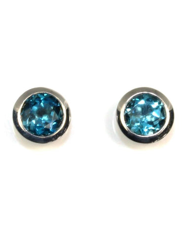 London Blue Topaz Cup Earring by Bastian Inverun