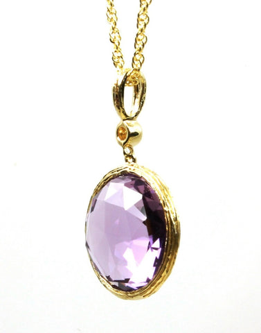 8.61ctw Amethyst and Diamond Rock Candy Necklace by Allison Kaufman
