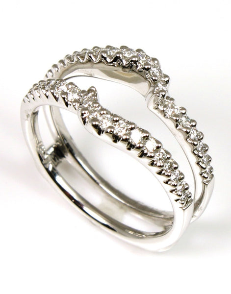 .32 Ctw Pave Diamond Ring Guard by Allison Kaufman