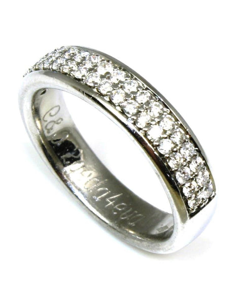 Double Row Pave Diamond Band