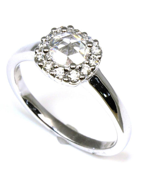 Rose Cut Diamond Halo Style Ring by Allison Kaufman