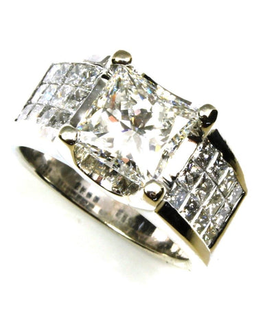3.60ctw Princess Cut Diamond Bold Ring