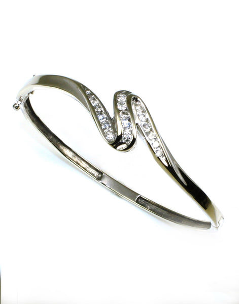 Bangle .75ctw Diamond Swirl Bracelet