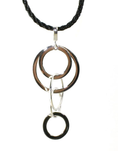 Multi Ring Dangle Necklace  by Carla & Nancy B