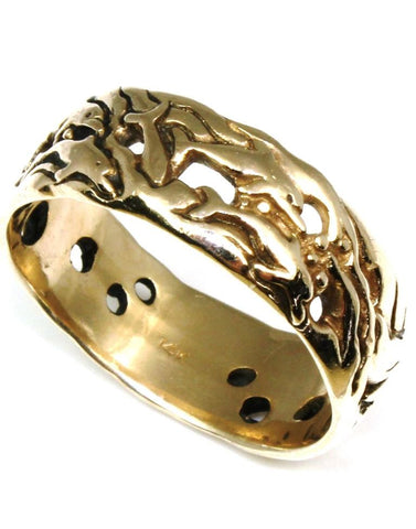 Carved Dolphin Ring