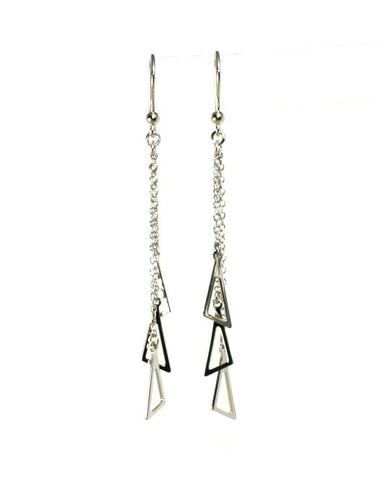 Triangle Triple Drop Earrings by Sterling Reputation