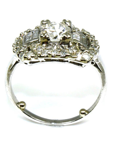 .90ctw Vintage Halo Ring