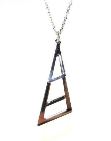 Triangle Triple Drop Necklace by Sterling Reputation
