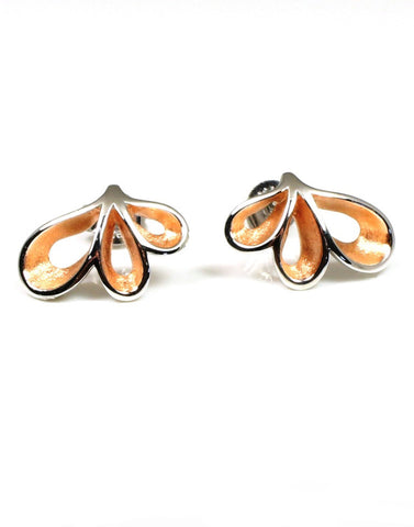 Rose Ribbon Earrings by Bastian-Inverun