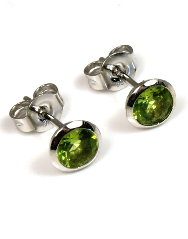 Peridot Hammered Earrings by Bastian-Inverun