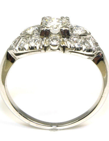 .48ctw Vintage Platinum Ring