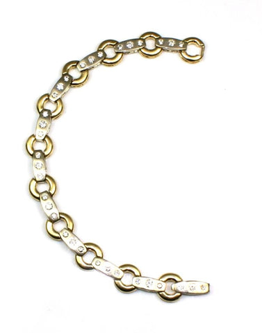 1.34ctw Two Tone Diamond Bracelet