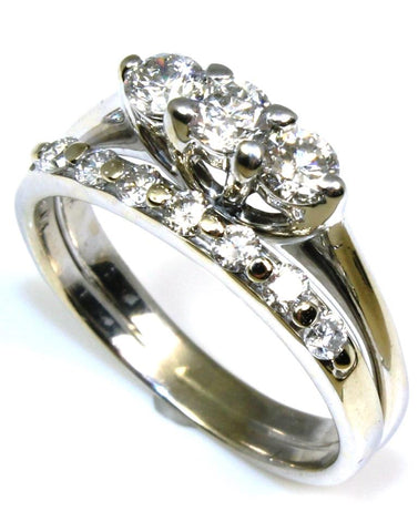 .76ctw Three Diamond Soldered Ring Set