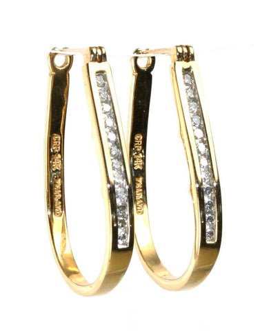 .25ctw Diamond Hoop Earrings