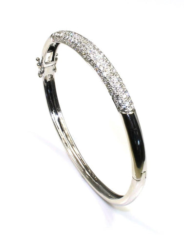 2.39ctw Diamond Pave Bangle Bracelet