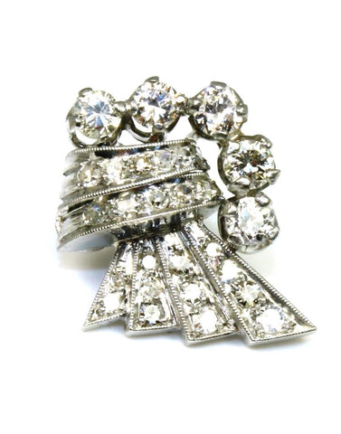 Diamond 1.72ctw Vintage Post Earrings