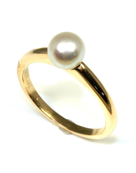 6mm Akoya Pearl Solitaire Ring