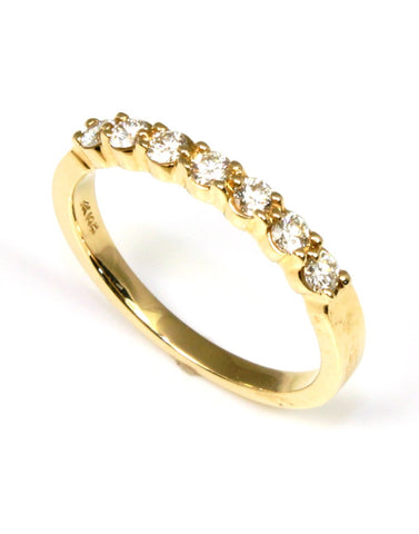 Classic Diamond Wedding Band by Allison Kaufman