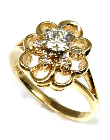 .40ctw Diamond Flower Ring