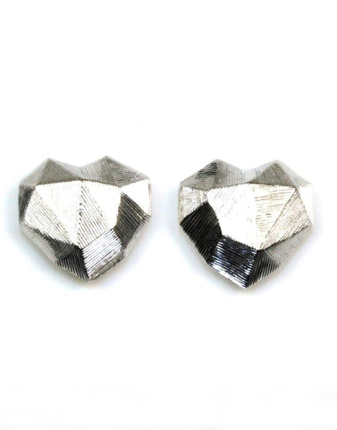 Faceted Heart Earrings by Bastian Inverun