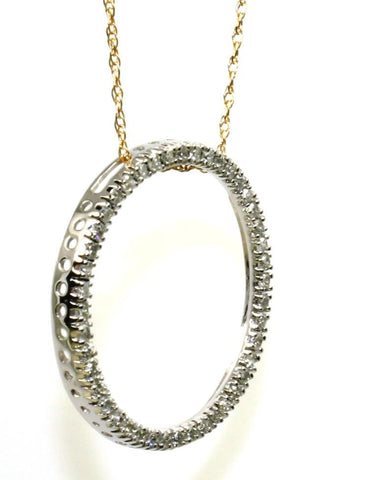 .25ctw Diamond Circle Necklace