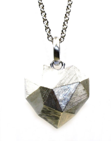 Faceted Heart Necklace by Bastian Inverun