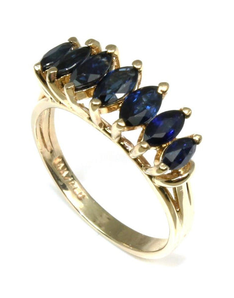Marquise Shape Sapphire Ring