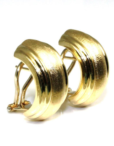 Wide Omega Back Hoop Earrings