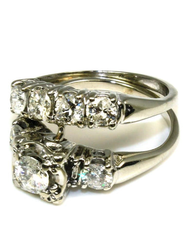 1.70ctw Classic Diamond Bridal Set