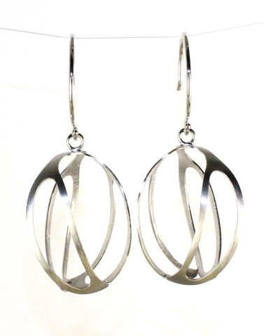 Satin Cage Earrings by Bastian Inerun