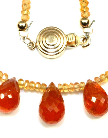 Orange Gemstone Briolette Necklace