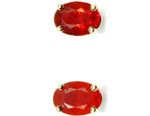 Oval Sunstone Stud Earrings