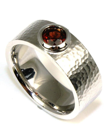 Hammered Garnet Band by Bastian Inverun