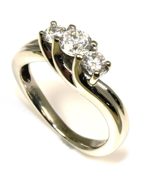 .63ctw Diamond Three Stone Ring