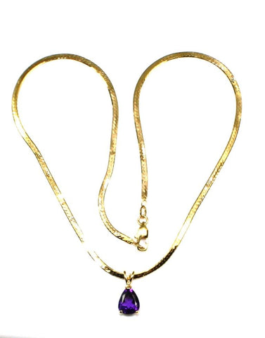 Amethyst Pear Shape Necklace