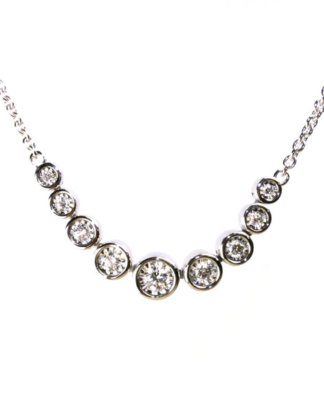 Diamond Bezel Necklace by Allison Kaufman
