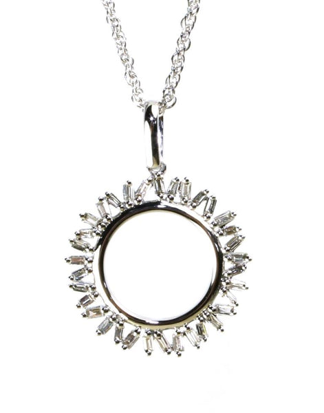 Diamond Baguette Dream Necklace by Allison Kaufman