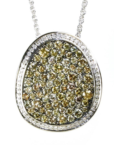 2.46ctw Natural Colored Diamond Boulder Necklace by Allison Kaufman