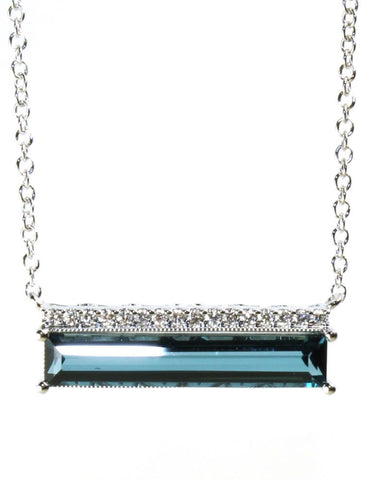 London Blue Topaz Geometric Necklace by Allison Kaufman
