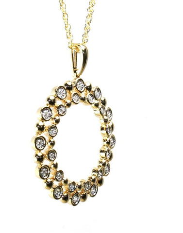Diamond Champagne Bubbles Wreath Necklace by Allison Kaufman