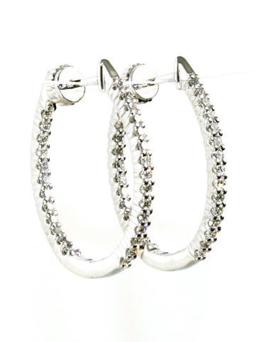 Diamond Inside Out Hoop Earrings by Allison Kaufman