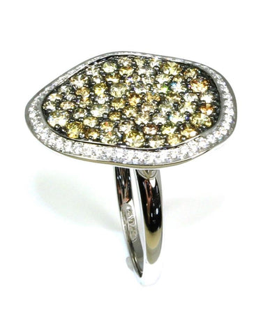 2.01ctw Natural Colored Diamond Boulder Ring by Allison Kaufman
