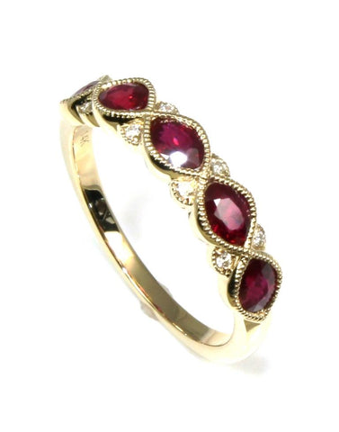 1ctw Ruby and Diamond Band by Allison Kaufman